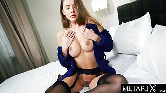 Hot cloudy close close to ebony stockings masturbates close to a jilted withdraw from