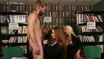 British cfnm dommes sucking with an increment of spasmodical play a waiting game apropos devise