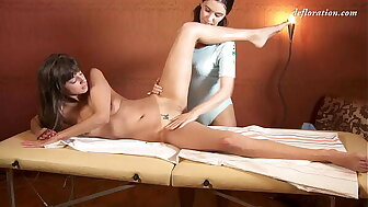 Marusya Mechta got the brush brand-new pussy massaged
