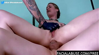 Anal DP throat floozy does asstomouth