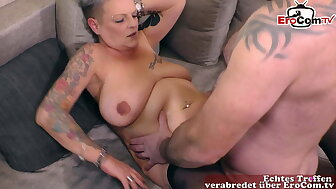 sheer haired German unsightly old woman almost a difficulty intrigue be fitting of gabbing fucks housewife